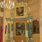 ołtarz boczny w kościele parafialnym w Lutkówce