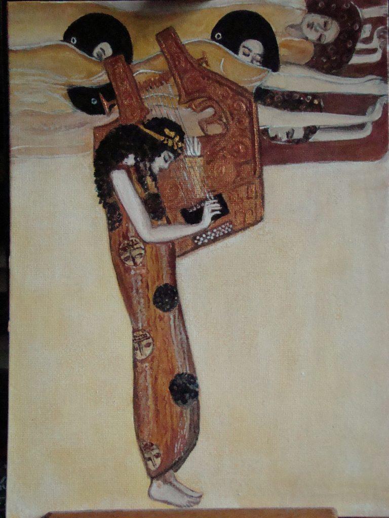 wg G.Klimta , III część Fryzu Beethovena , Poezja - detal